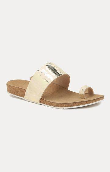 Ruosh | Gold Sandals