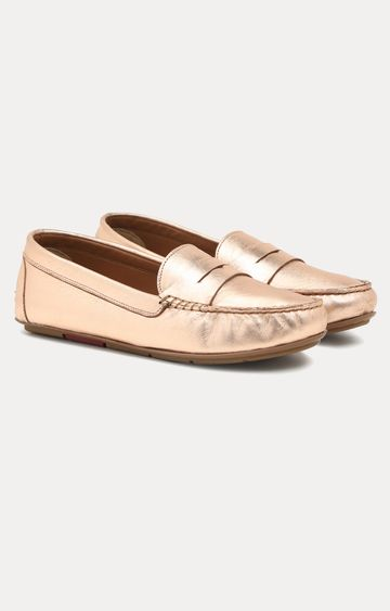 Ruosh | Gold Loafers