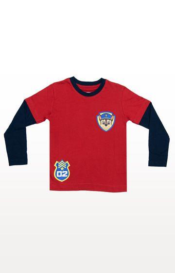 PLANET SUPERHEROES | Red Paw Patrol Full Sleeve - Herd T-Shirt