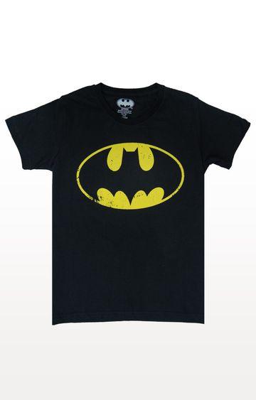 PLANET SUPERHEROES | Black Batman - Classic Logo T-Shirt