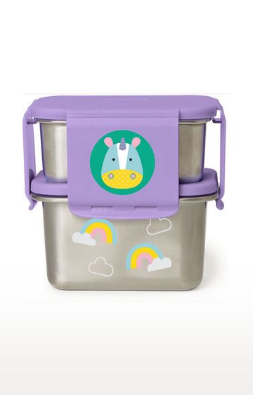 Mothercare | Skip Hop Zoo Stainless Steel Lunch Kit - Multi