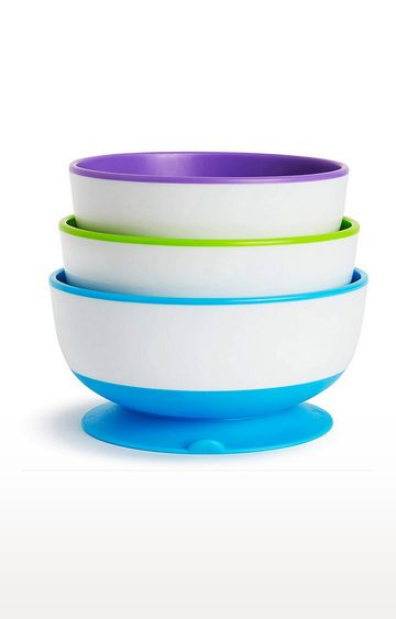 Mothercare | Munchkin Stay-Put Suction Bowls - 3Pk