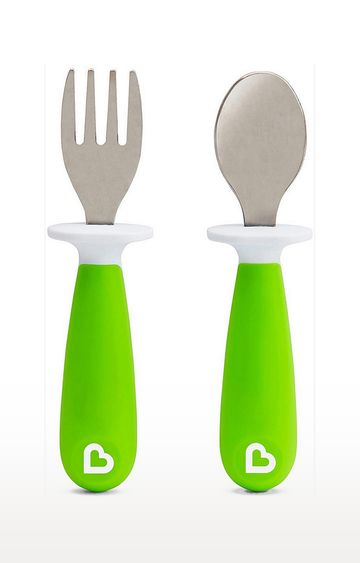 Mothercare | Munchkin Raise Fork And Spoon Set (Green)
