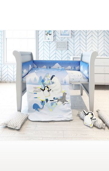 Mothercare | Fancy Fluff 7 Piece Organic Baby Cot Bedding Set - Arctic