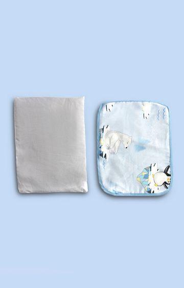 Mothercare   Fancy Fluff Organic Rai Pillow - Arctic