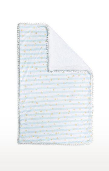 Mothercare | Fancy Fluff Fleece Blanket - Blue Star