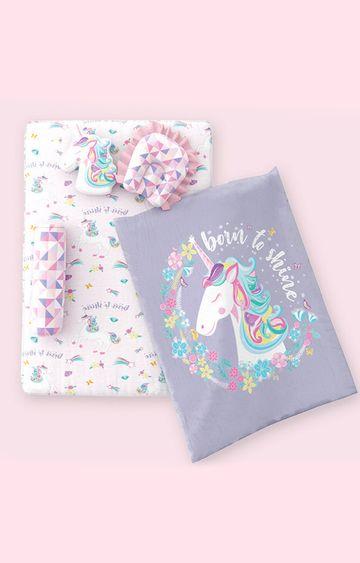Mothercare   Fancy Fluff 6 Piece Organic New Born Bed Set - Unicorn