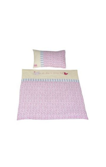 Mothercare | Pink Printed Quilt and Pillow Cover Set