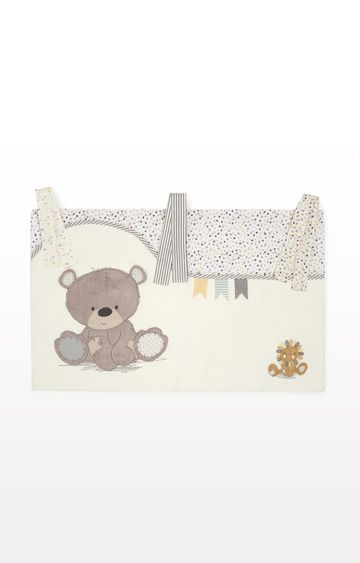 Mothercare | Cream Teddy's Toy Box Cot Pockets