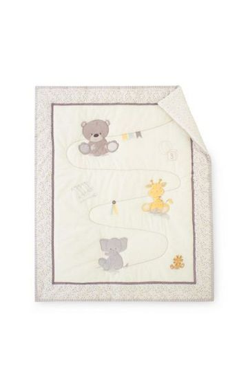 Mothercare | Teddy's Toy Box Cot Bed Quilt