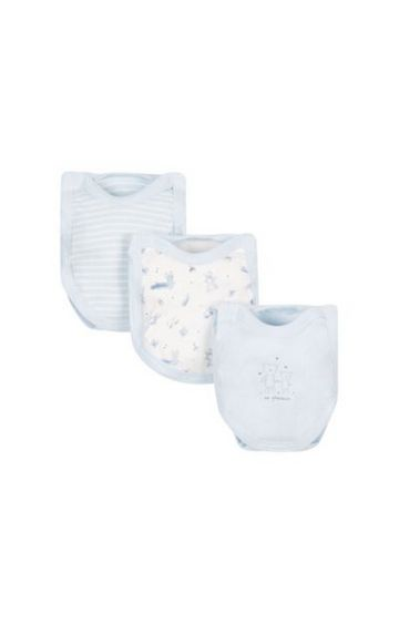 Mothercare   Blue Printed Romper - Pack of 3