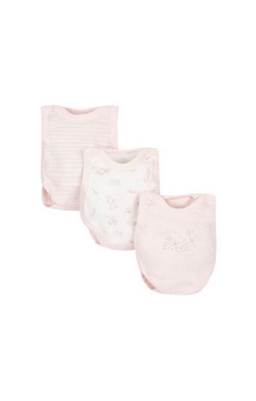 Mothercare   Peach Printed Romper - Pack of 3
