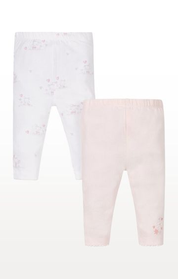 Mothercare | Multicoloured Printed Pink and Floral Leggings - Pack of 2