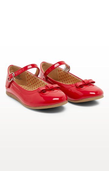 Mothercare | Red Glitter Bow Shoes