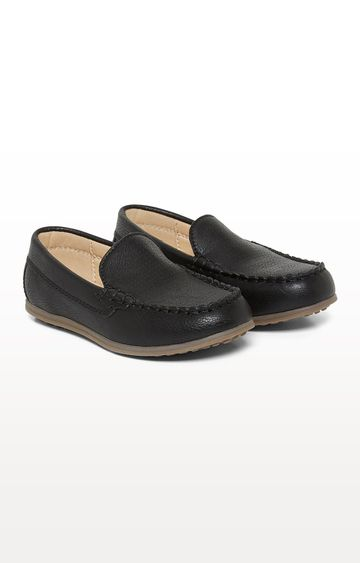 Mothercare | Black Punch Out Loafers