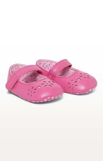 Mothercare | Pink Punch Out Ballerina Pram Shoes