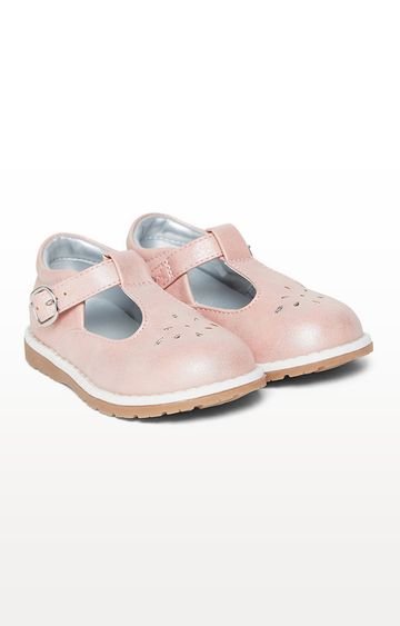 Mothercare | First Walkers Pink T-Bar Shoes