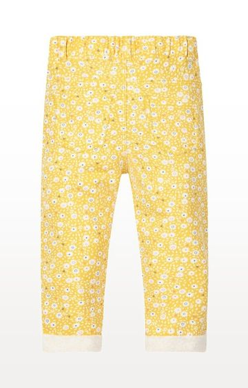 Mothercare | Yellow Floral Jeggings