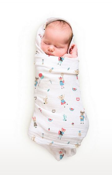 Mothercare | Rabitat Pamper Soft Muslin Swaddles - Fox And Friends