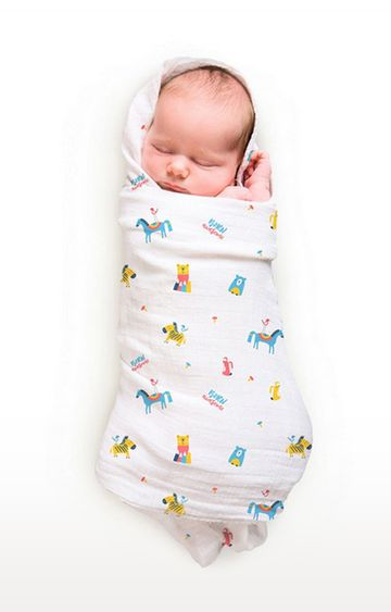 Mothercare | Rabitat Pamper Soft Muslin Swaddles - Born Awesome