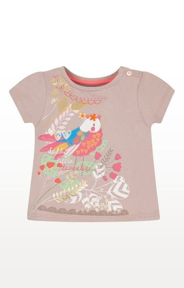 Mothercare | Brown Printed Putty Little Tweetie T-Shirt
