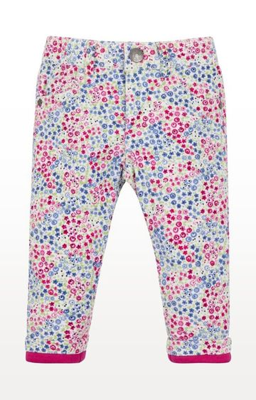 Mothercare | Pink Floral Cord Skinny Trousers