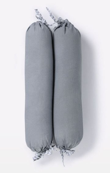 Mothercare | Mila Baby Grey Bolster Pillows