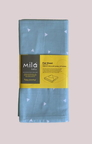 Mothercare | Mila Baby Blue Sprinkles Flat Sheet