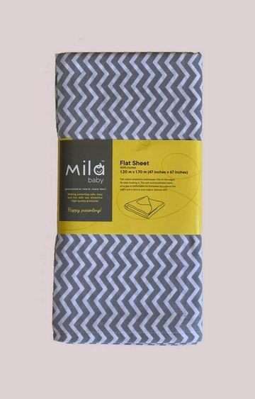 Mothercare | Mila Baby Grey Chevron Flat Sheet