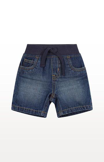 Mothercare | Mid Wash Ribwaist Denim Shorts