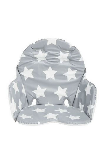 Mothercare   Grey Star Highchair Cushion