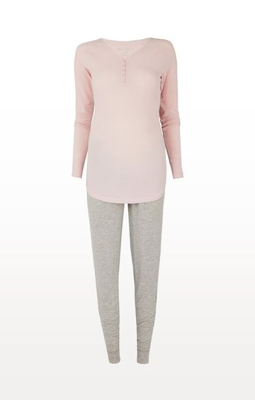Mothercare | Pink and Grey Nursing Pyjama Set