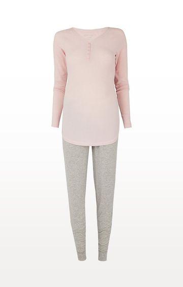 Mothercare | Pink and Grey Nursing Pyjama Set
