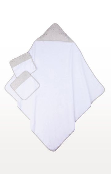 Mothercare | Premium Grey Towel and Flannel Set