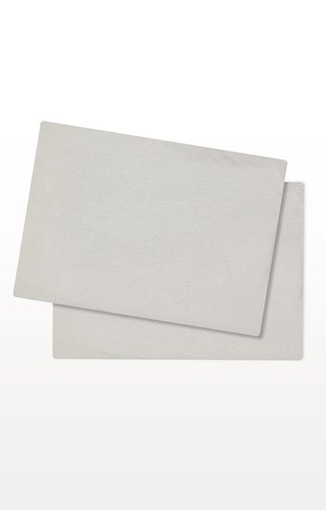 Mothercare | Grey Cotton-Rich Fitted Bedside Crib Sheets - Pack of 2