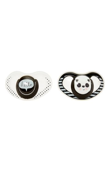 Mothercare   Airflow Fun Faces Soothers 6-12 Months - Pack of 2