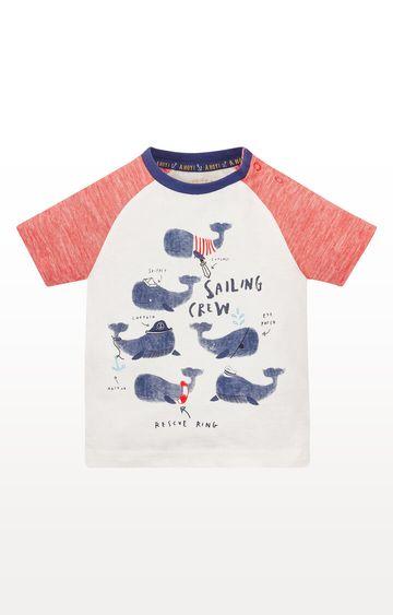 Mothercare | Whale Crew Raglan T-Shirt