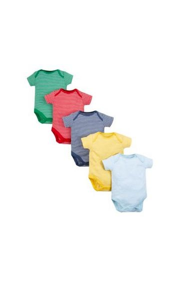 Mothercare | Stripe Bodysuits - 5 Pack