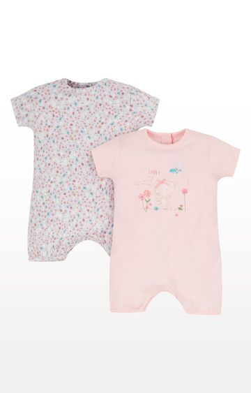Mothercare | Sunny Days Mouse Rompers - Pack of 2