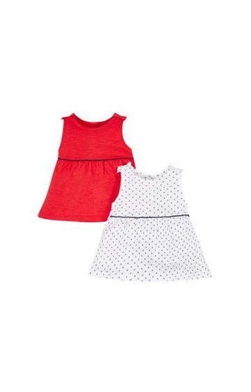 Mothercare | Red and White Printed Top - Pack of 2
