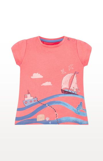 Mothercare | Coral Seaside T-Shirt