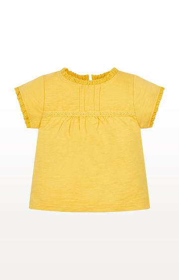 Mothercare | Yellow Crochet T-Shirt