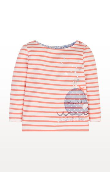 Mothercare | Striped Whale T-Shirt