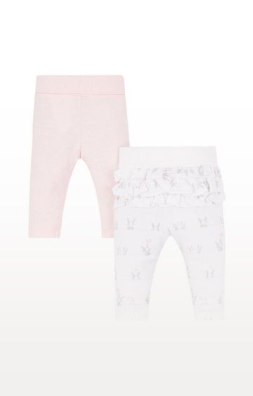Mothercare   Pink And Frill Leggings - 2 Pack