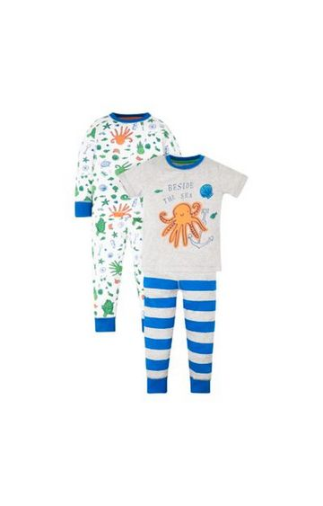 Mothercare | Blue Printed Twin Set - Pack of 2