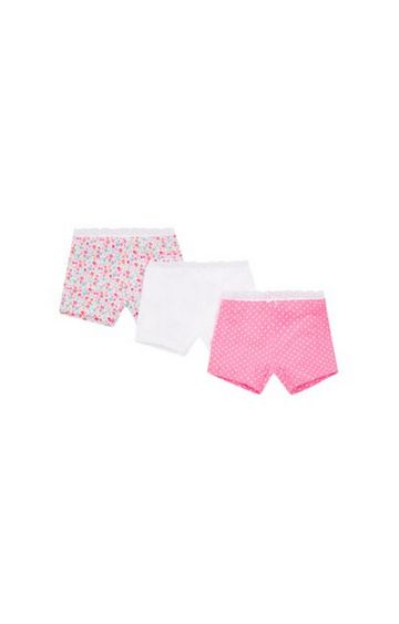 Mothercare | White and Pink Printed Panty - Pack of 3