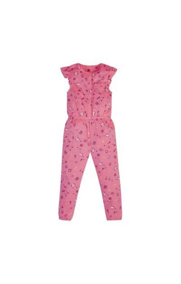 Mothercare   Pink Printed Jumpsuit