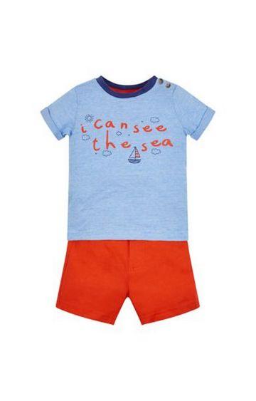 Mothercare   See The Sea T-Shirt And Shorts Set