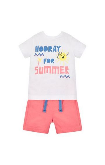 Mothercare | Hooray For Summer T-Shirt And Shorts Set