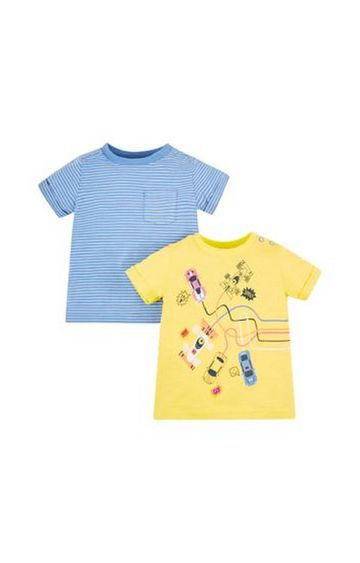 Mothercare | Racing Cars T-Shirts - 2 Pack